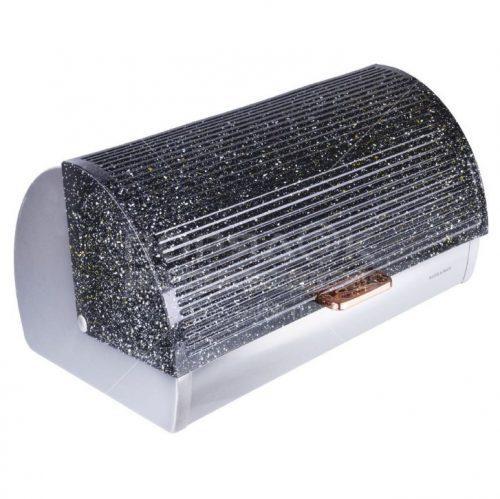 MAYER&BOCH metalinė duoninė juoda su taškiukais 39cm 29317