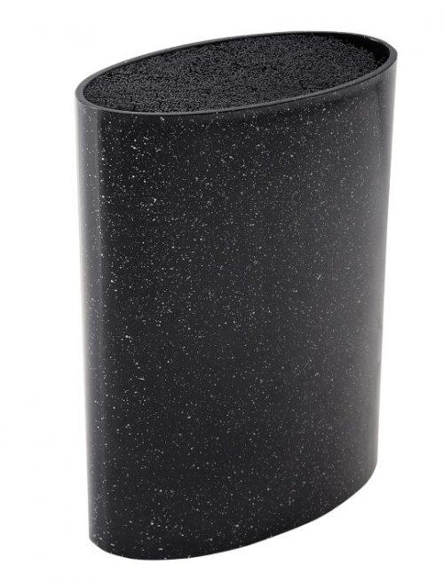 MAYER&BOCH peilių stovas, elipsės formos 21,8cm juodas su taškiukais 29650