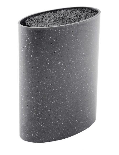 MAYER&BOCH peilių stovas, elipsės formos 21,8cm pilkas su taškiukais 29651