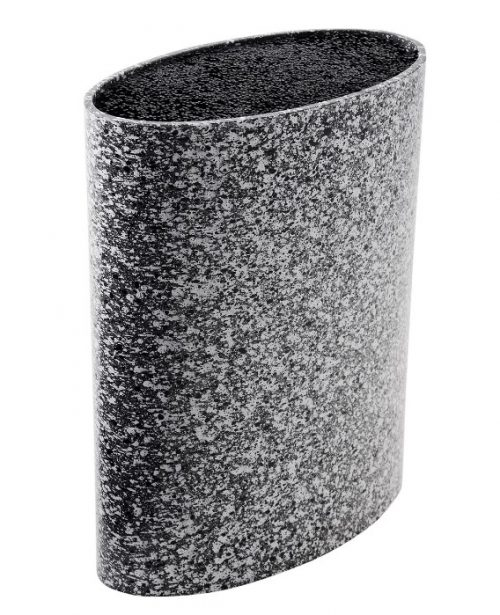 MAYER&BOCH peilių stovas, elipsės formos 21,8cm pilkas su taškiukais 29652
