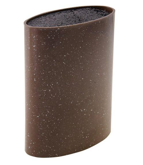 MAYER&BOCH peilių stovas, elipsės formos 21,8cm rudas su taškiukais 29653