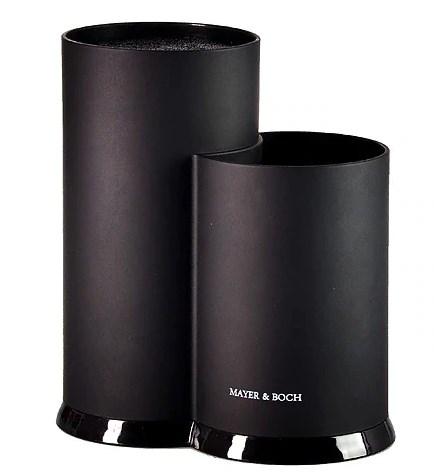 MAYER&BOCH peilių ir samčių stovas, dvigubas, juodas 29773