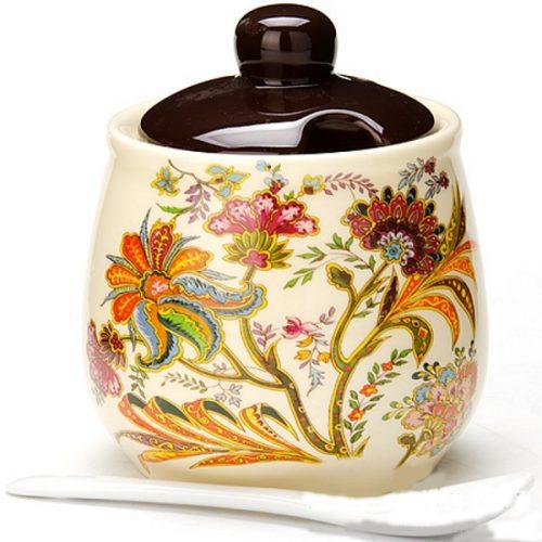 MAYER&BOCH keramikinė cukrinė su šaukstu 400ml LORAIN LR-24834